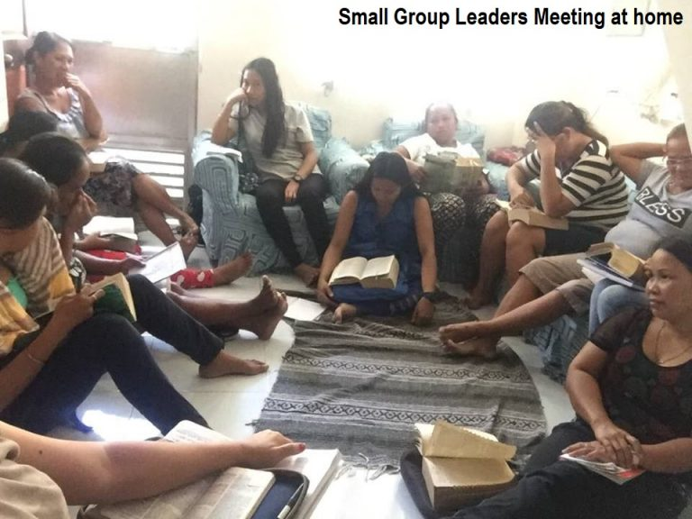 Here's our small group leaders meeting